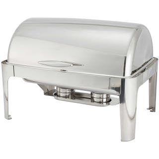 FortheChef Rothschild 8 Qt. Full-Size Roll-Top Stainless Steel Chafer|https://ak1.ostkcdn.com/images/products/7975228/7975228/Winco-8-Quart-Madison-Stainless-Steel-Rectangular-Roll-Top-Chafing-Dish-P15344858.jpg?impolicy=medium