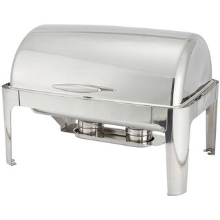 FortheChef Rothschild 8 Qt. Full-Size Roll-Top Stainless Steel Chafer