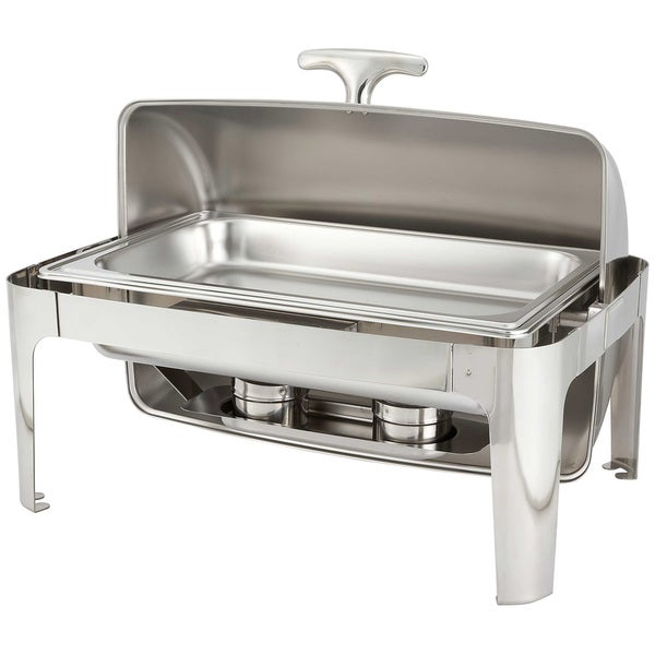 forthechef rothschild 8 qt fullsize rolltop stainless steel chafer free shipping today - Chaffing Dish