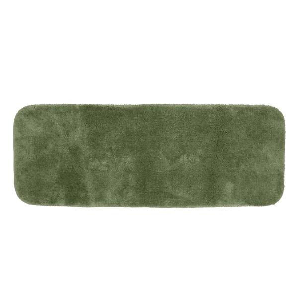 Somette Posh Plush Deep Fern 22 x 60 Bath Runner Rug