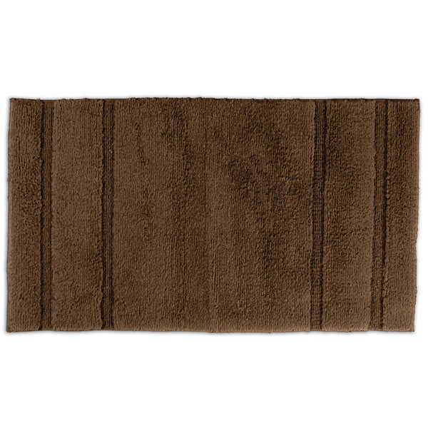 Somette Tranquility Cotton Chocolate 30x50 Bath Rug