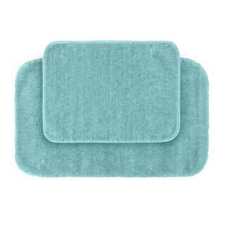Somette Plush Deluxe Sea Foam 2-piece Bath Rug Set