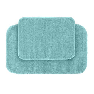 Somette Plush Deluxe Sea Foam 2-piece Bath Rug Set