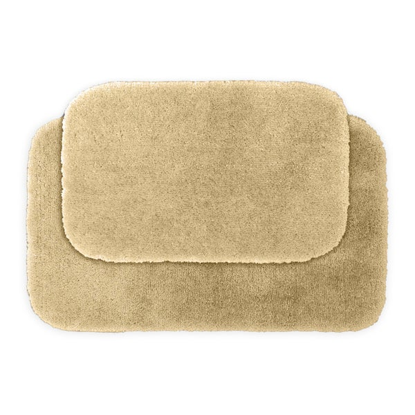 Somette Posh Plush Ecru 2-piece Bath Rug Set