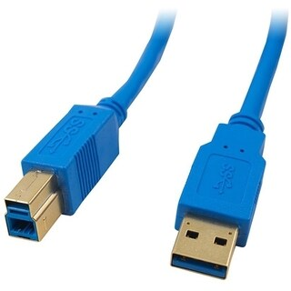 4XEM 1FT USB 3.0 Cable A To B (Blue)