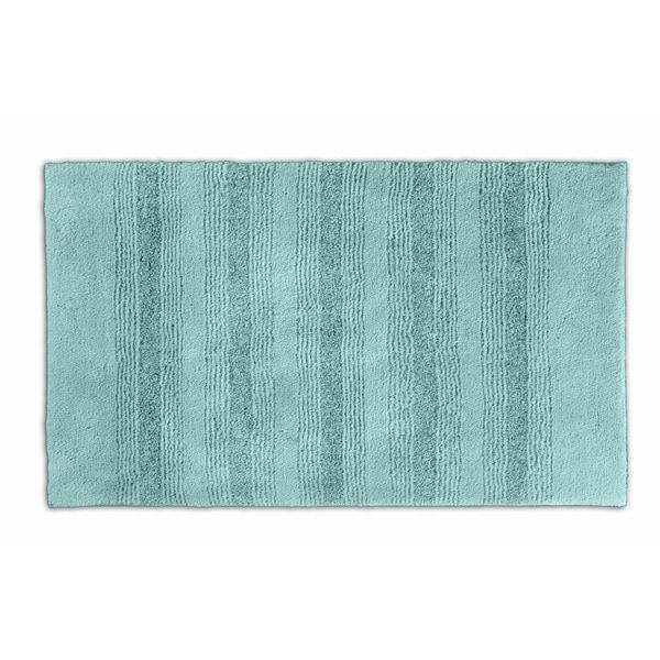 Somette Westport Stripe Sea Foam 24 x 40 Bath Rug