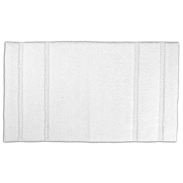 Somette Tranquility Cotton White 30 x 50 Bath Mat