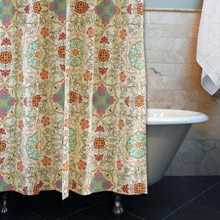 greenland home fashions esprit spice print shower curtain - Greenland Home Fashions