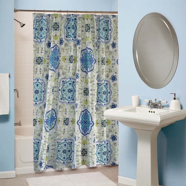 Greenland Home Fashions Esprit Blue Shower Curtain