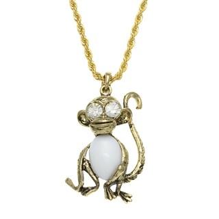 Kenneth Jay Lane Goldtone Monkey Necklace