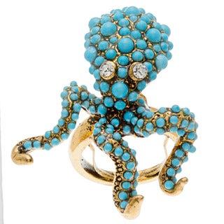Kenneth Jay Lane Blue Octopus Ring