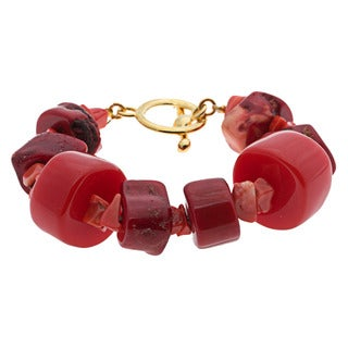 Kenneth Jay Lane Coral Toggle Bracelet