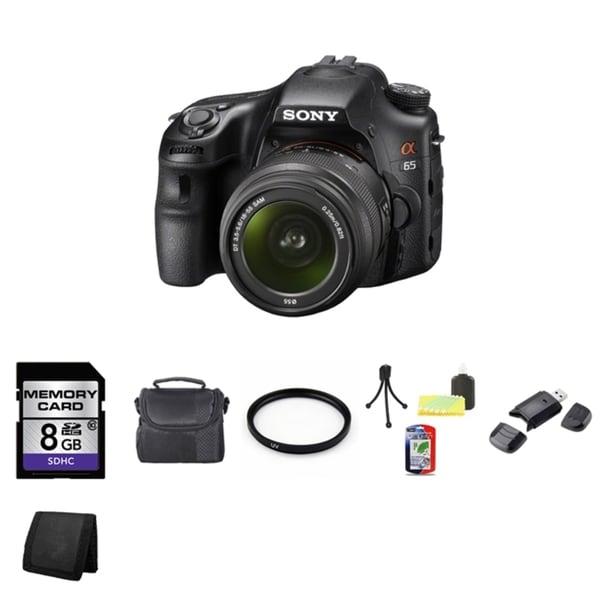 Sony Alpha SLT-A65 DSLR 24.3MP Digital Camera 18-55mm Lens 8GB Bundle