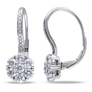 Miadora Signature Collection 14k White Gold 1 1/2ct TDW Diamond Earrings (G-H, SI1-SI2)