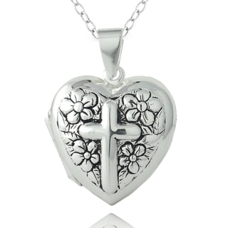 Mondevio Sterling Silver Heart Locket Necklace