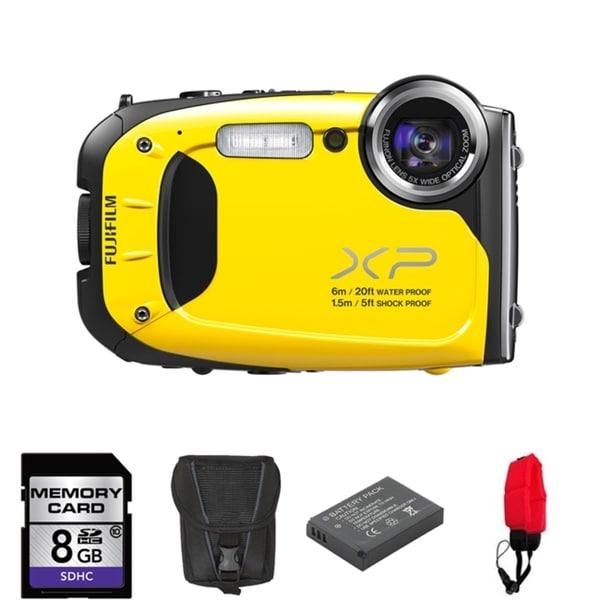 Fujifilm FinePix XP60 Waterproof 16.4MP Yellow Digital Camera 8GB Bundle