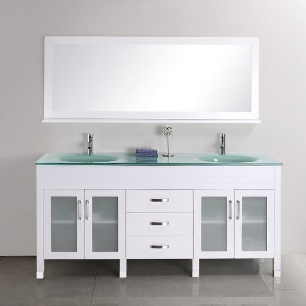 Shop Quinn 68 Inch Double Sink Vanity Set Free Shipping