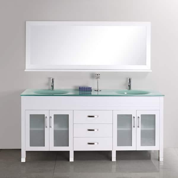 Quinn 68 Inch Double Sink Vanity Set Overstock 7978714