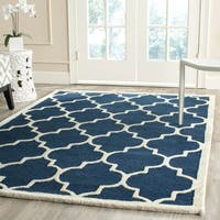 Safavieh Handmade Cambridge Moroccan Navy Indoor Wool Rug - 5' x 8'