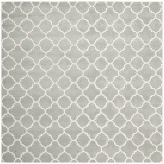 "Safavieh Contemporary Handmade Moroccan Gray Wool Rug (8'9"" Square)"