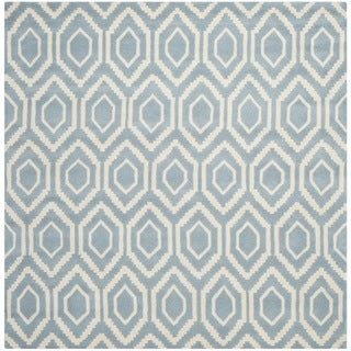 Safavieh Handmade Moroccan Blue Contemporary Wool Rug (7' Square)