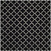 Safavieh Handmade Moroccan Black Geometric Pattern Wool Rug - 7' x 7' Square