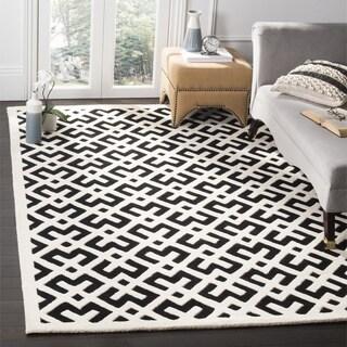 Safavieh Handmade Moroccan Black Indoor Wool Rug (7' Square)