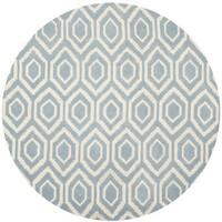 Safavieh Handmade Moroccan Blue Pure Wool Rug - 7' Round