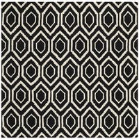 Safavieh Handmade Moroccan Black Contemporary Wool Rug - 7' Square