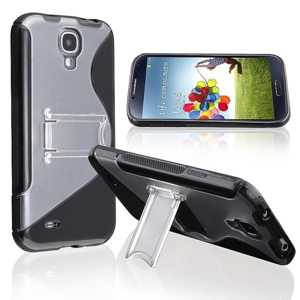 BasAcc Black/ Clear S Shape TPU Case for Samsung Galaxy S IV/ S4 i9500