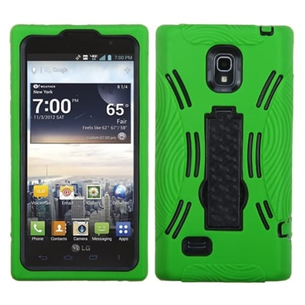 BasAcc Black/ Green Case for LG VS930 Spectrum 2