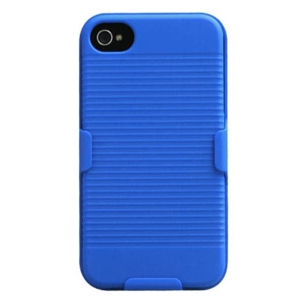 INSTEN Blue Hybrid Holster for Apple iPhone 4/ 4S