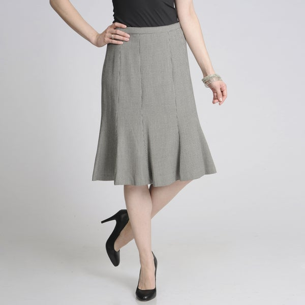 Focus 2000 Women's Houndstooth Flared Career Skirt
