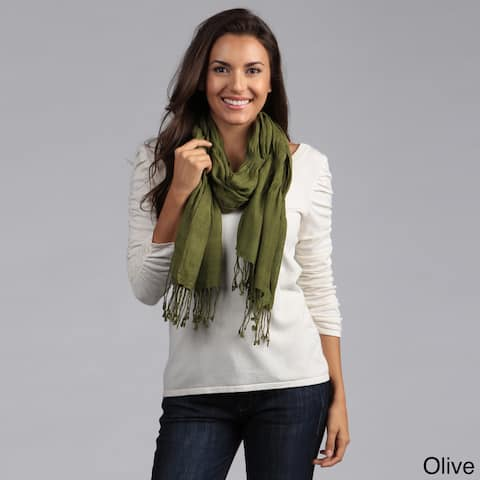 Saro Scrunched Fringed Scarf