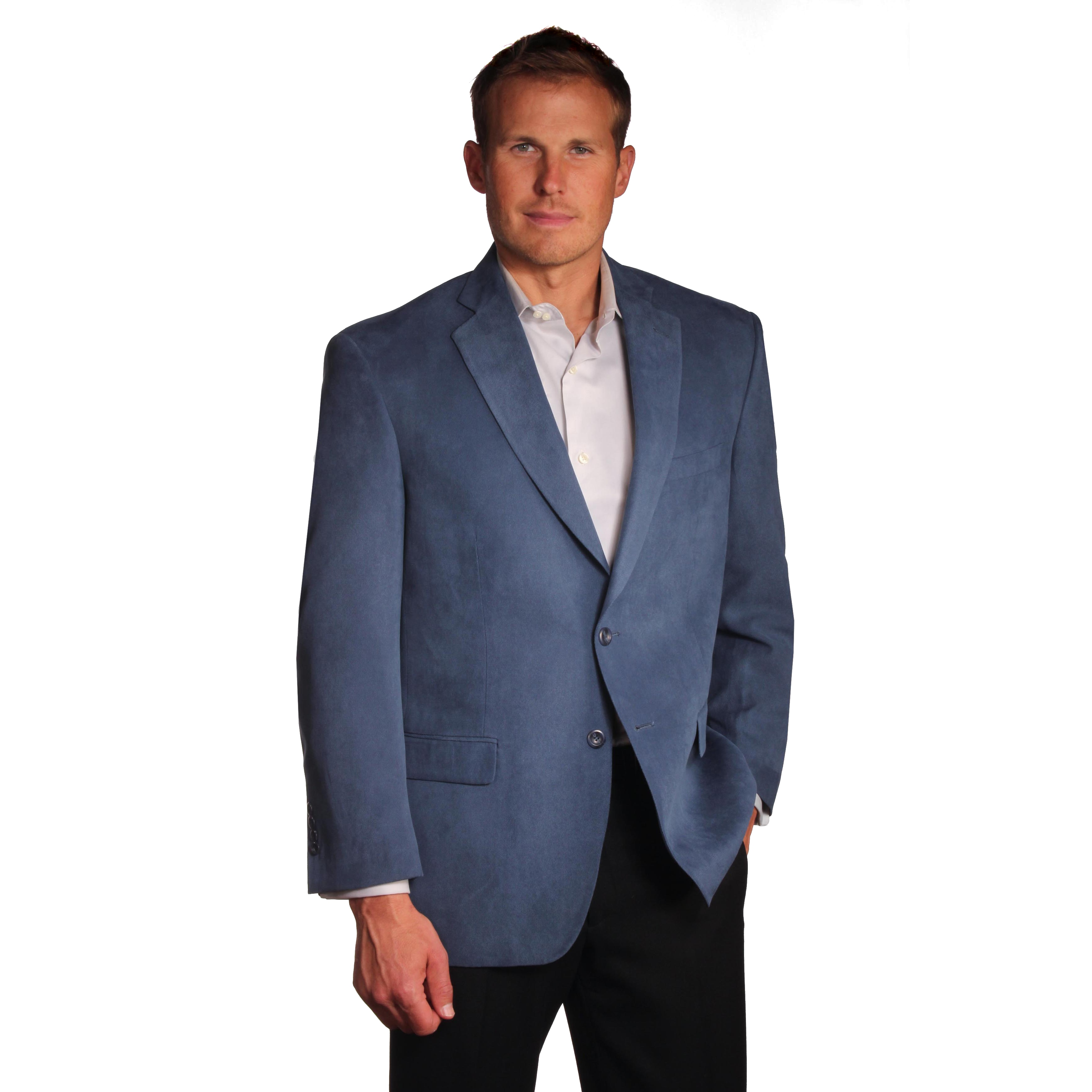 Mallard Men's 'London' Sport Coat (Royal Blue- 46L), Blue...