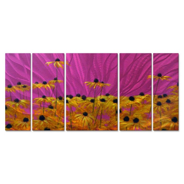 39 yellow on pink 39 5 piece metal wall decor set free for 5 piece mural