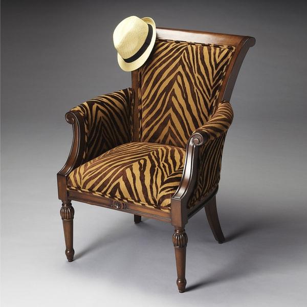 Zebra Tan Chair