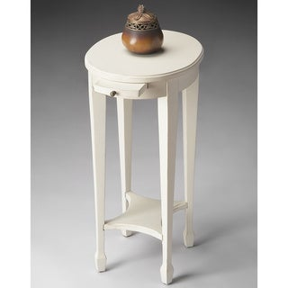 Handmade Cottage White End Table (China)