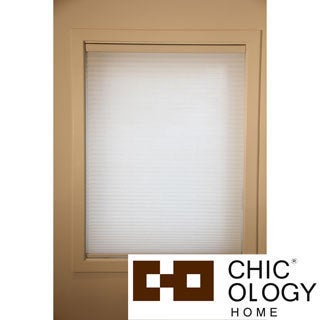 Chicology Cordless Cellular Shade Light Filtering Honeycomb Fabric Whisper White White (23-inch x 72-inch )