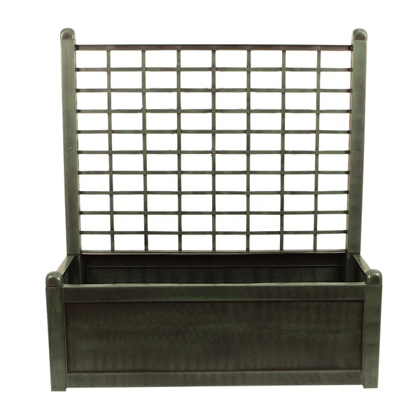 Green Planter Box with Trellis - Free Shipping Today - Overstock.com ...