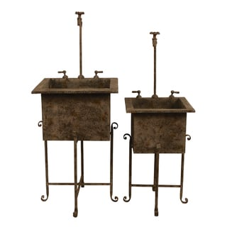 Garden Sink Planter Set - Overstock™ Shopping - Great ... on Outdoor Sink With Stand id=95167