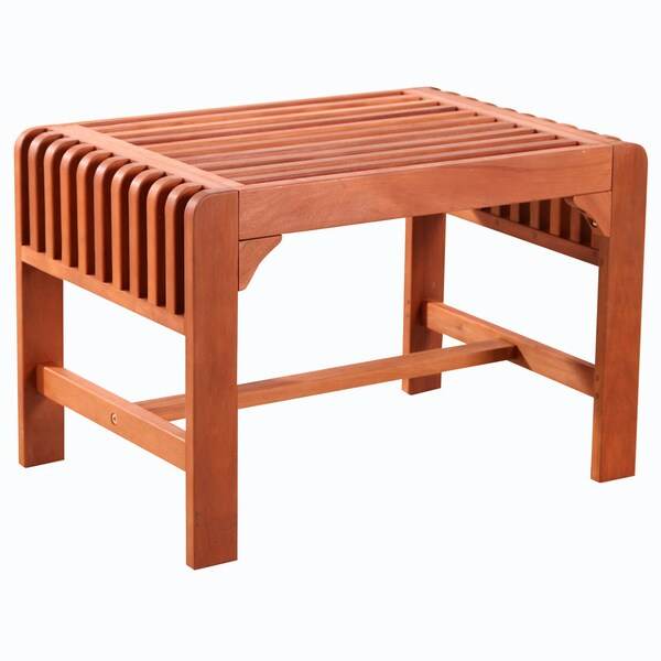 Backless Single Wood Outdoor Bench