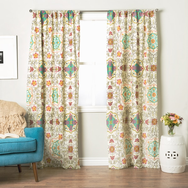 Greenland Home Fashions Esprit Spice 84-inch Curtain Panel Pair