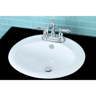Round Surface Mount 4-inch Center Bathroom Sink