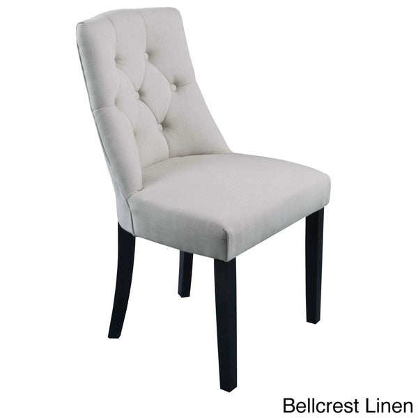 Bellcrest Button Tufted Upholstered Dining Chairs (Set Of 2)   Free  Shipping Today   Overstock.com   15352593