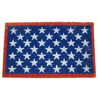 Rubber-Cal Red White and Blue Patriotic Doormat (18 x 30)