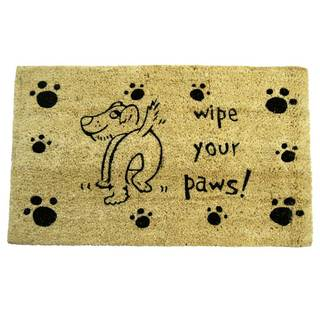 Rubber-Cal 'Wipe Your Paws!' Doormat (18 x 30)