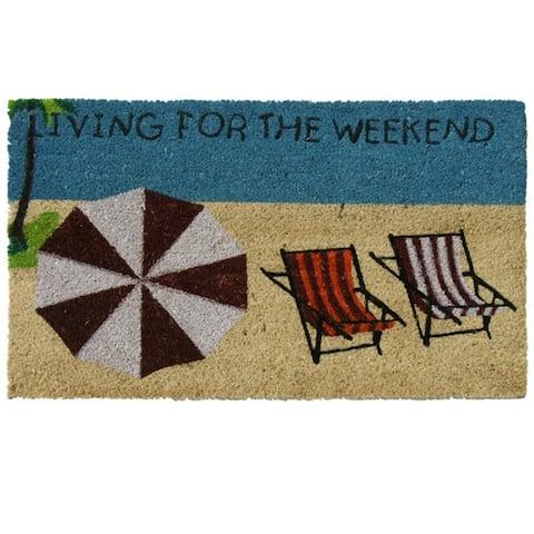 Rubber-Cal Living for the Weekend Beach Door Mat (18 x 30) - 18 x 30