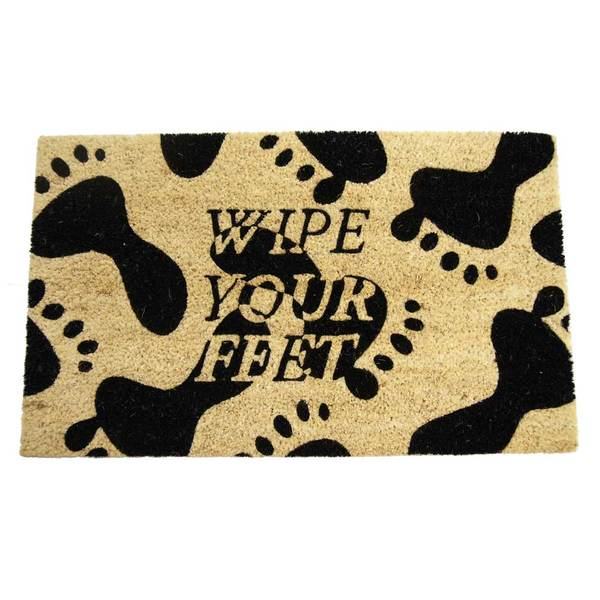 Rubber Cal Wipe Your Feet Please Door Mat 18 X 30
