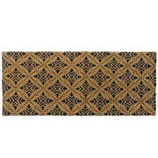 Attractive Rubber Cal Classic Fleur De Lis French Brown Coir Door Mat (24 X 57